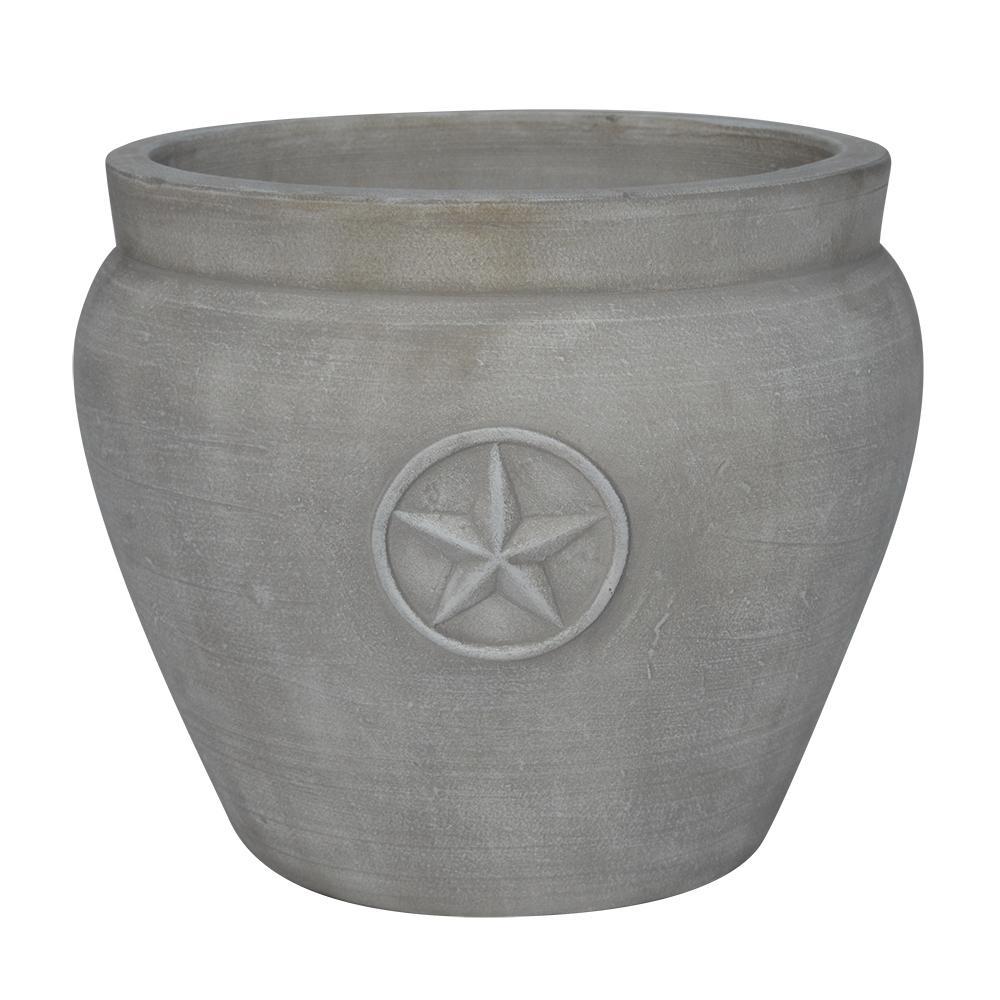 Southern Patio San Antonio 15 In X 126 In White Ceramic Planter