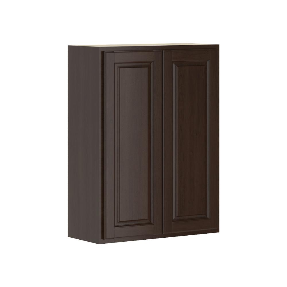 Madison Assembled 27x36x12 in. Wall Cabinet in Java