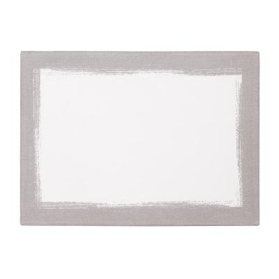 14 in. W x 20 in. L White Metallic Brushstroke Placemats (Set of 4)