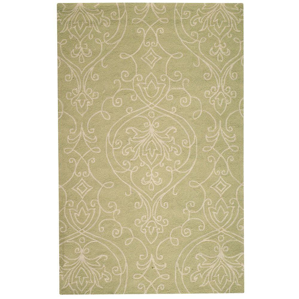 Home Decorators Collection Kenilworth Celery 9 ft. x 12 ft. Area Rug