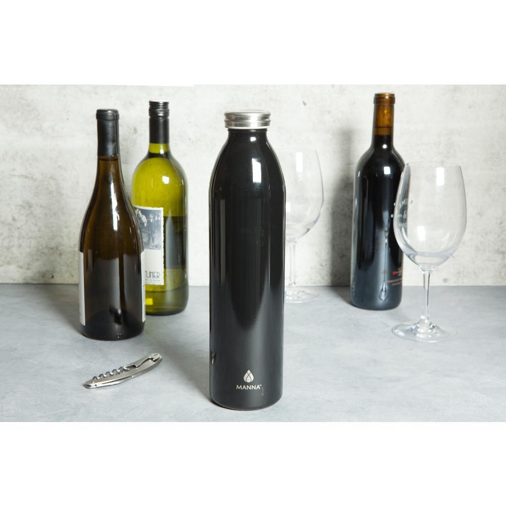 Retro 32 oz. Metallic Black Vacuum Insulated Stainless Steel Bottle