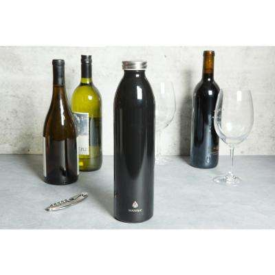 Retro 32 oz. Metallic Black Vacuum Insulated Stainless Steel Bottle