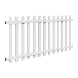Veranda Glendale 4 Ft H X 8 Ft W White Vinyl Picket