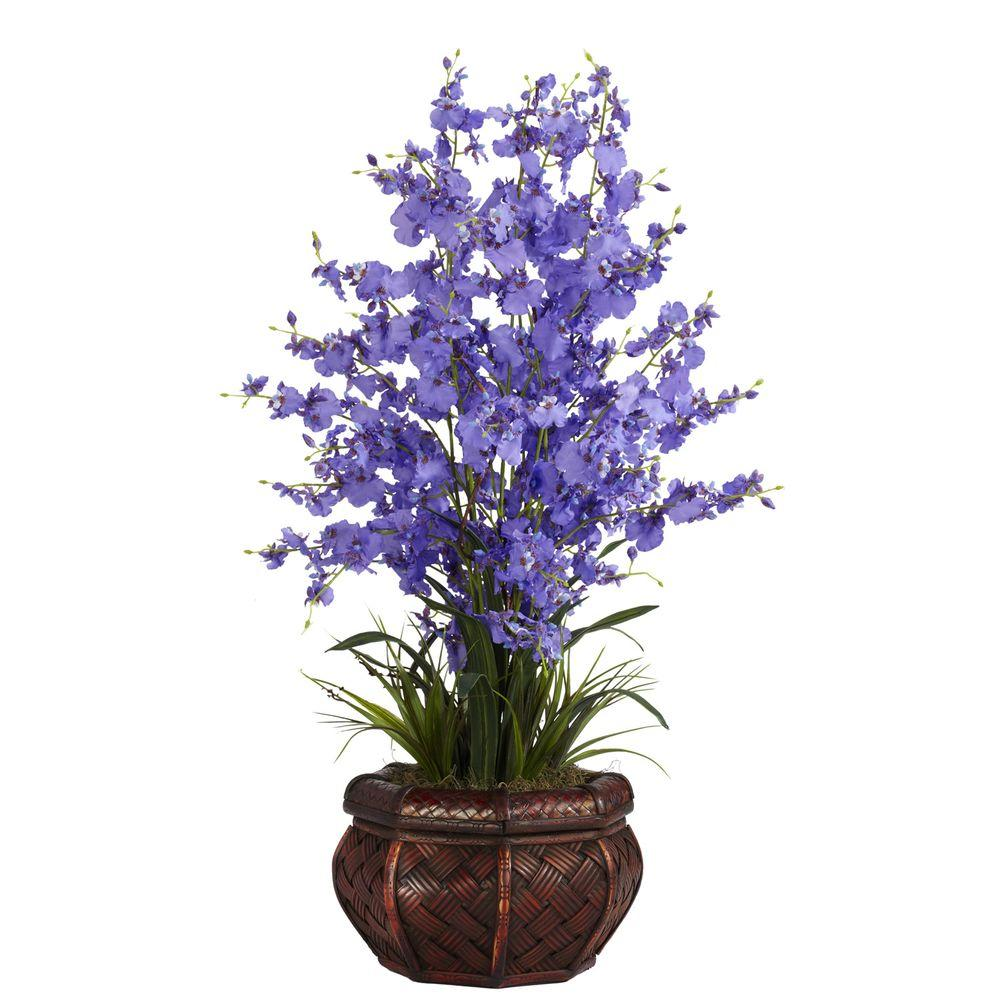 null 30 in. H Purple Dancing Lady Silk Flower Arrangement