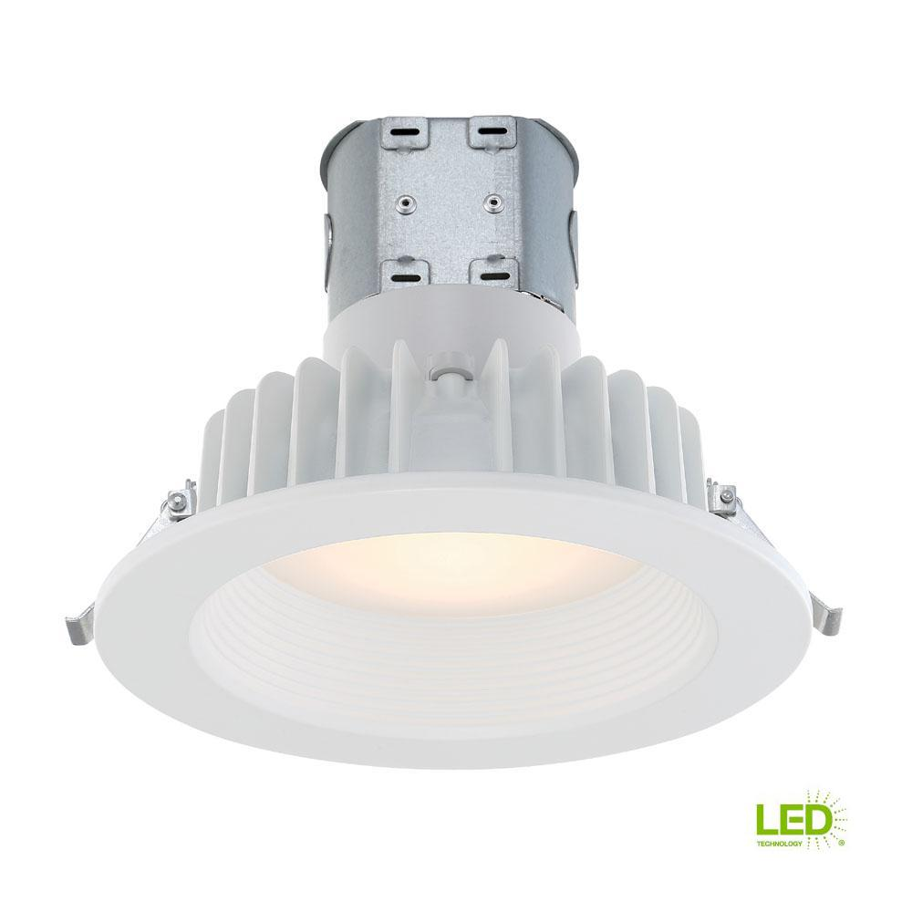 commercial electric easy up 6 in white baffle integrated led