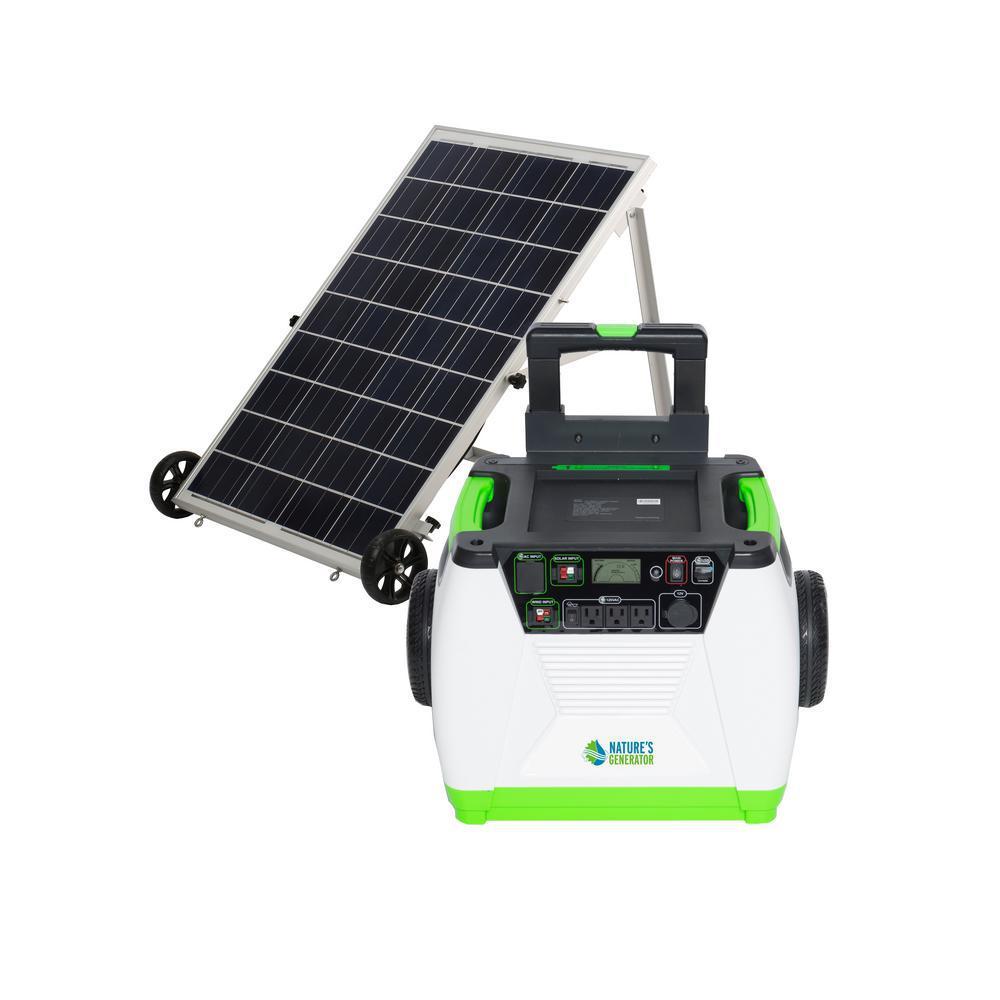 1800-Watt Solar Powered Portable Generator with Electric Start