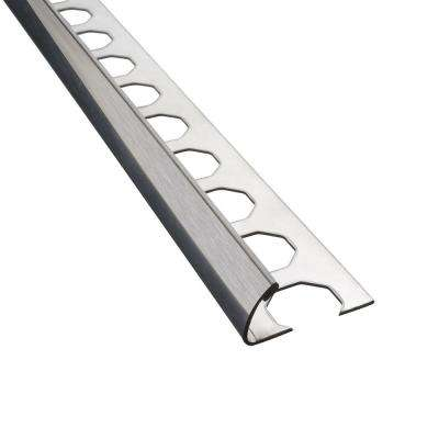 Novocanto Brushed 1/2 in. x 98-1/2 in. Stainless Steel Tile Edging Trim