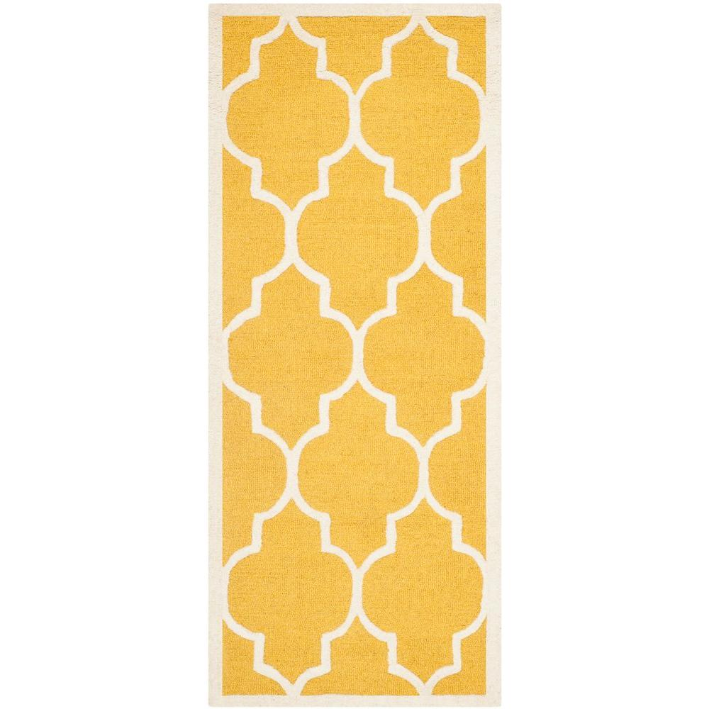 Safavieh Cambridge Gold/Ivory 3 ft. x 18 ft. Runner Rug