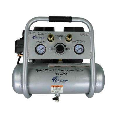 Quiet Flow 1.6 Gal. 1.0 HP Portable Electric Oil-Free Air Compressor