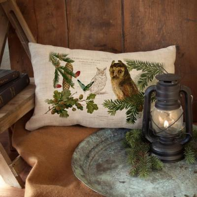 Lodge Hollow Natural Animal Print Polyester 12 in. x 20 in. Throw Pillow