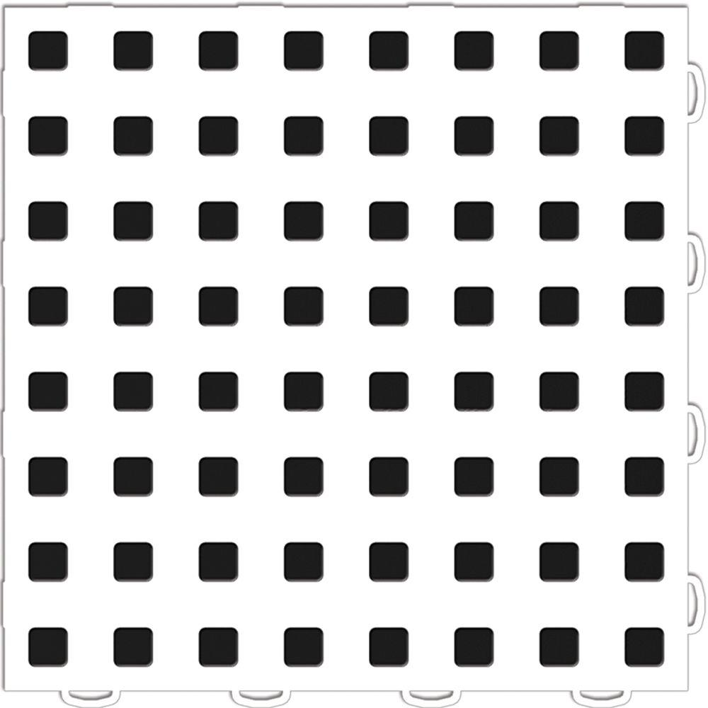 TechFloor 1 ft. x 1 ft. White/Black Vinyl Flooring Tiles (Quantity