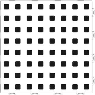 TechFloor 1 ft. x 1 ft. White/Black Vinyl Flooring Tiles (Quantity of 10)