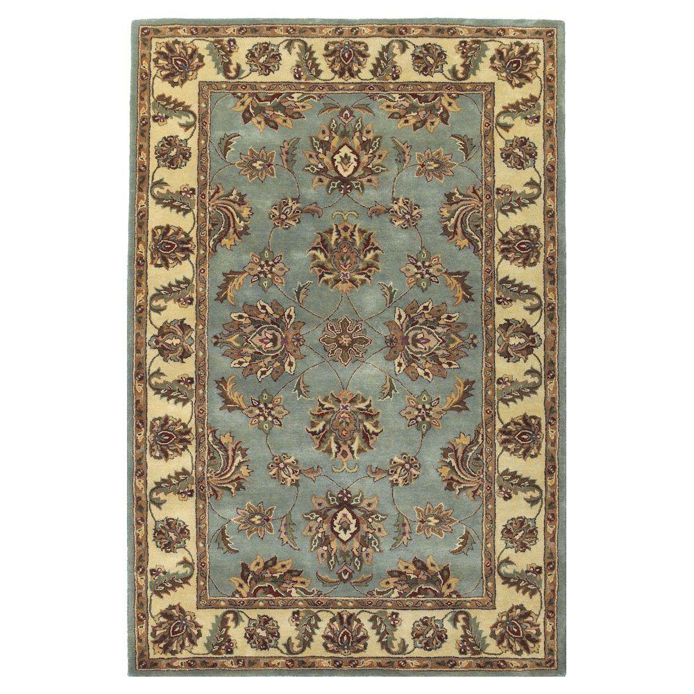 Kas Rugs Magesty Agra Frost/Ivory 2 ft. 6 in. x 4 ft. 2 in. Area Rug-DISCONTINUED