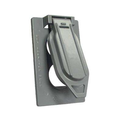 Gray 1-Gang Duplex Weatherproof Cover with Vertical Mount