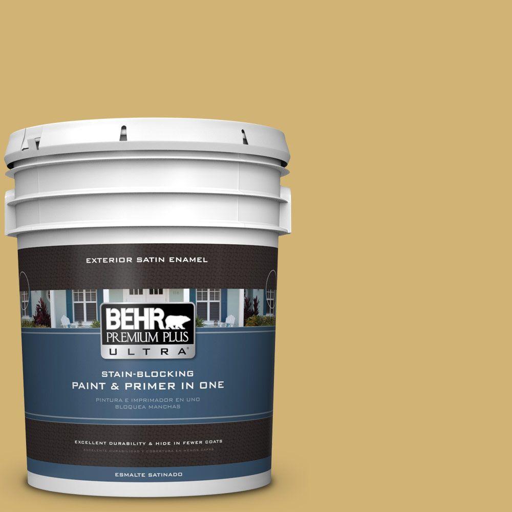 BEHR Premium Plus Ultra 5-gal. #M320-5 Dried Chamomile Satin Enamel Exterior Paint
