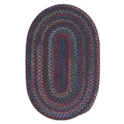 Newport Harbor Dark Multi 9 ft. x 12 ft. Braided Oval Area Rug