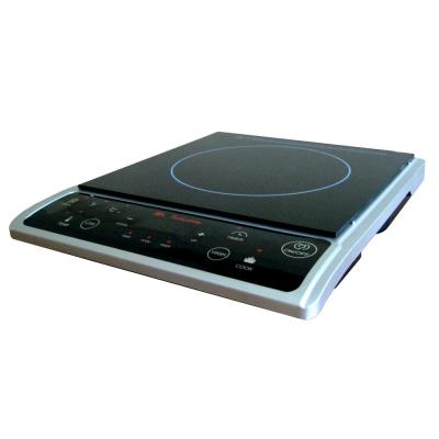 SPT-Single Burner 7.25 in. Black and Silver Induction Hot Plate
