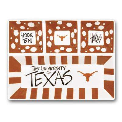 Texas Ceramic 4 Section Tailgating Serving Platter