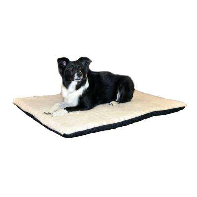 Ortho Thermo Large Cream Non-Slip Heated Dog Bed