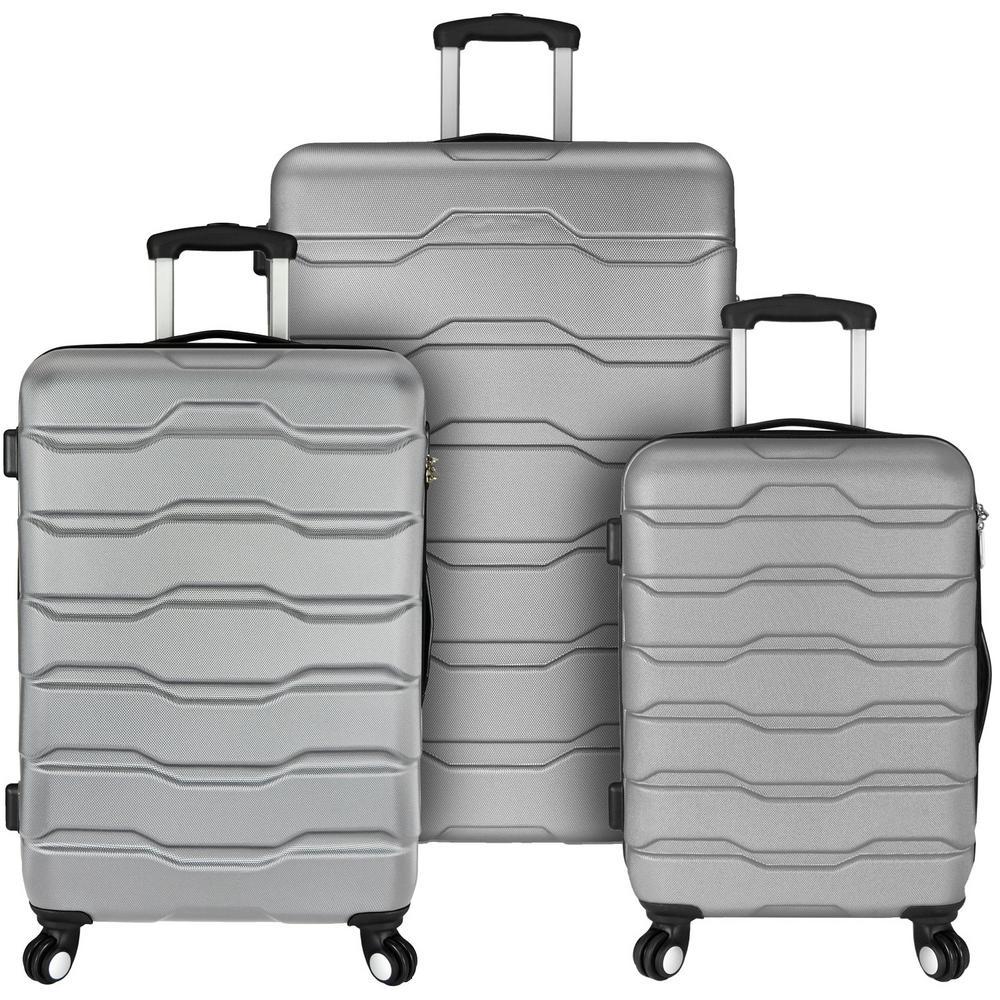 Omni 3-Piece Grey Hardside Spinner Luggage Set