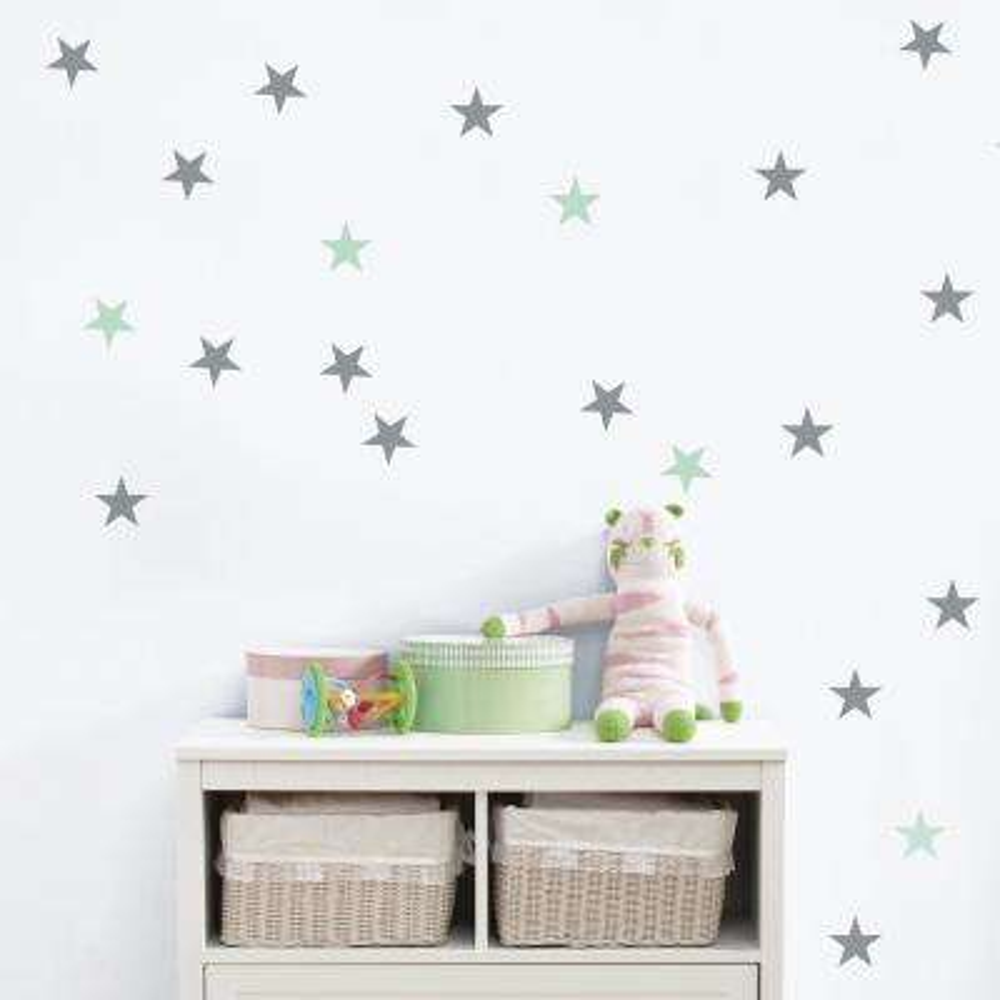 """Stars Rain"" Kids Wall Decal (2-Sheets)"