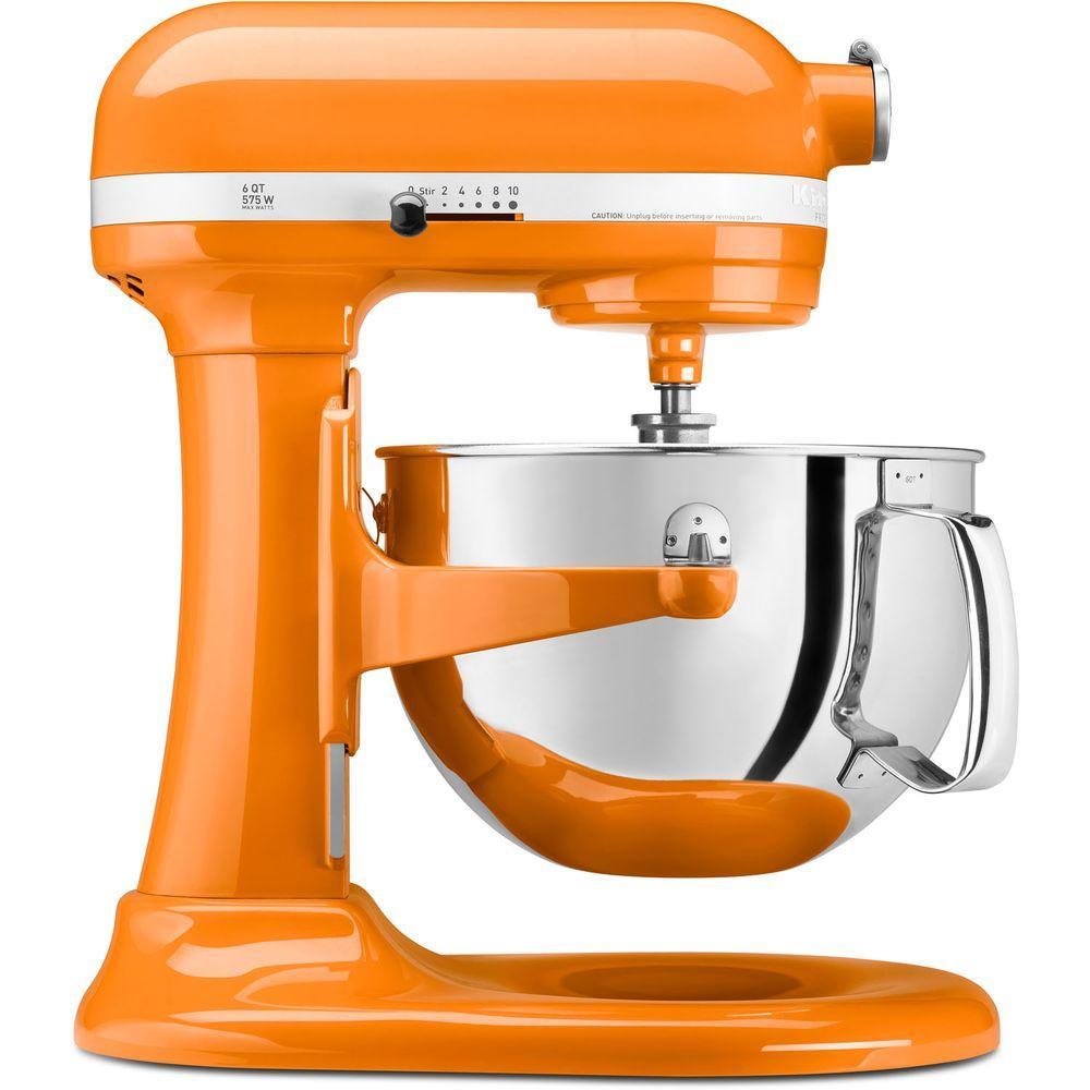Professional 600 Series 6 Qt. Tangerine Stand Mixer