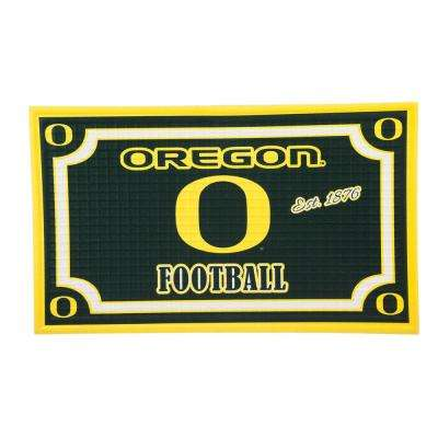 University of Oregon 18 in. x 30 in. Embossed Welcome Mat