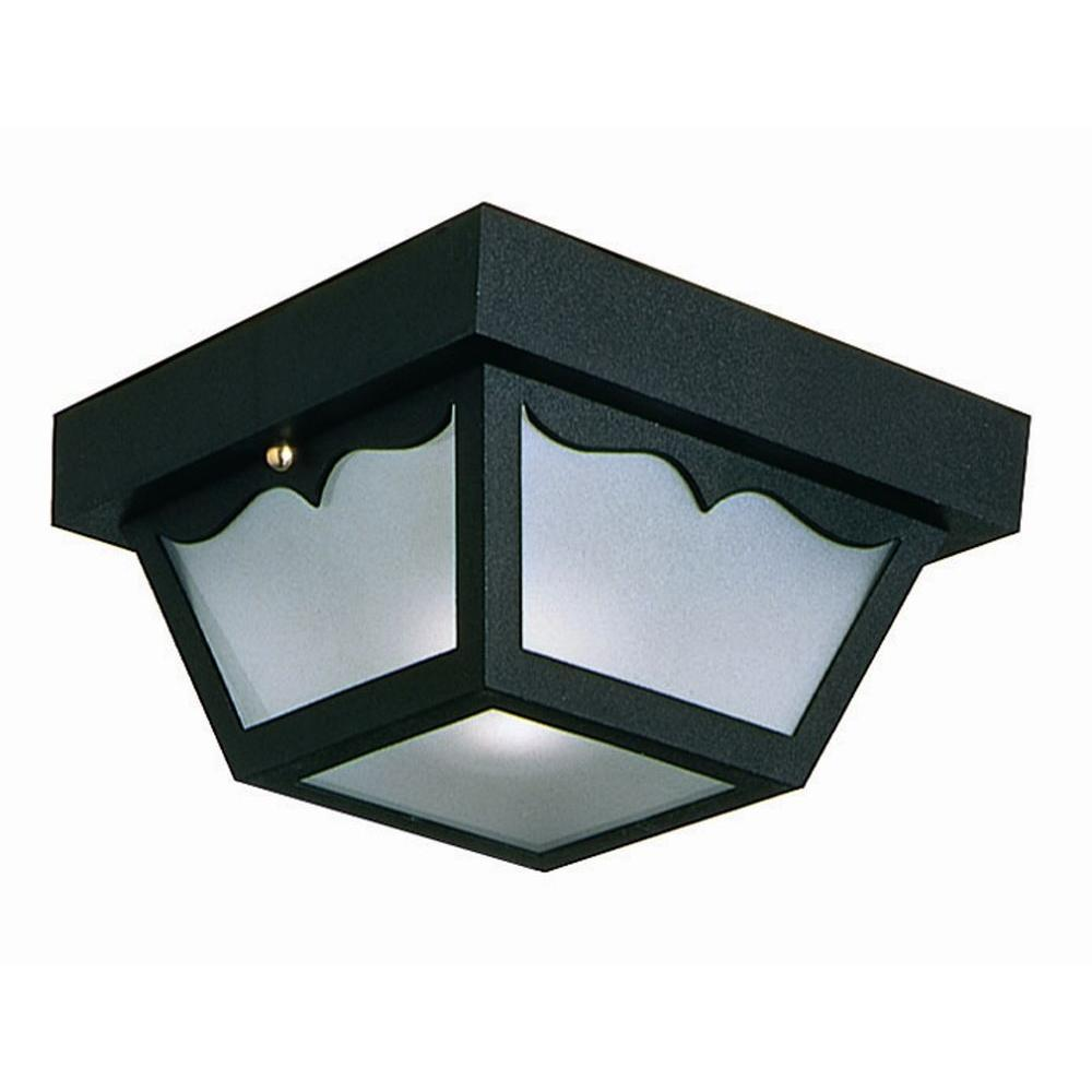 Design House Black Outdoor Ceiling Light-502872 - The Home Depot