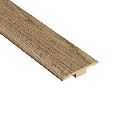 Hickory Natural 1/4 in. Thick x 1-3/8 in. Wide x 94-1/2 in. Length Vinyl T-Molding
