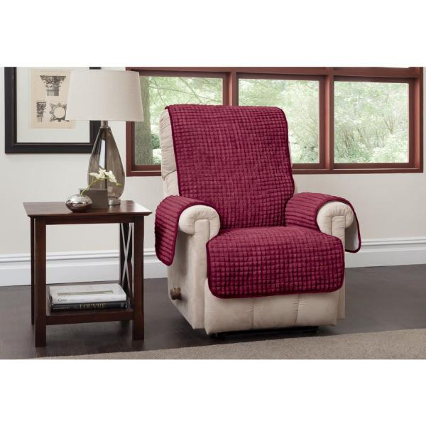 Puff Recliner Wing Burgundy Furniture