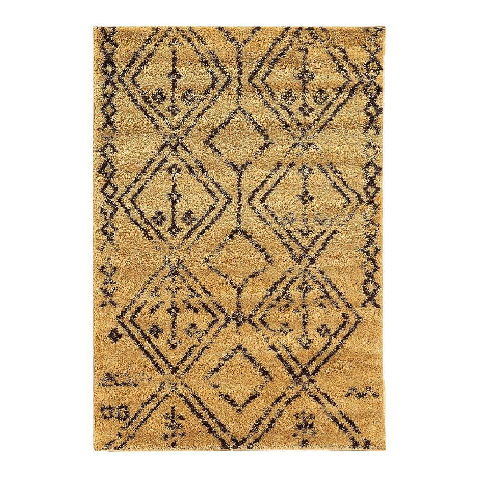 Linon Home Decor Moroccan Collection Fes Camel and Brown 8 ft. x 10 ft. Indoor Area Rug