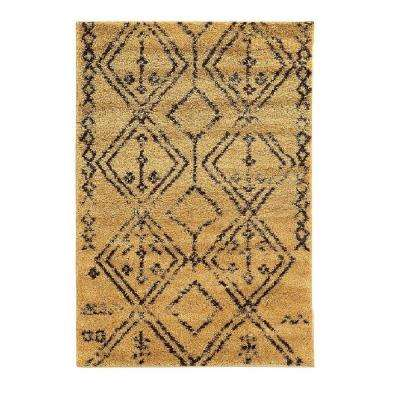 Perfect Moroccan Collection Fes Camel And Brown 8 Ft. X 10 Ft. Indoor Area Rug