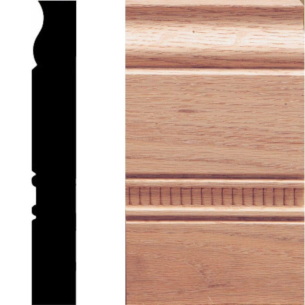 1 in. x 3-1/2 in. x 6 in. Oak Embossed Plinth