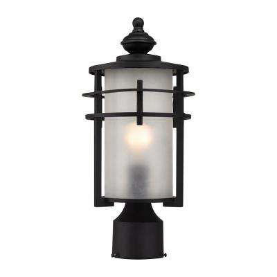 Meadowview 1-Light Matte Black Outdoor Post Lantern