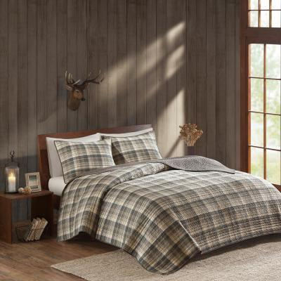 Tasha 3-Piece Taupe Full/Queen Quilt Mini Set