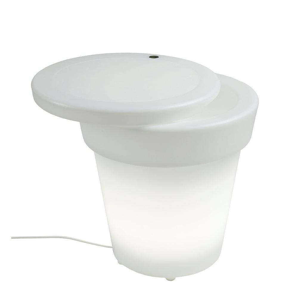 Twist Production 1-Light Outdoor White Lighted Ice Bucket