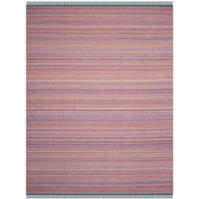 Kilim Purple/Rust 8 ft. x 10 ft. Area Rug
