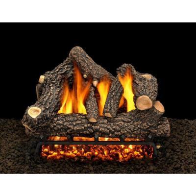 Cheyenne Glow 24 in. Vented Propane Gas Fireplace Log Set with Complete Kit, Safety Pilot Lit