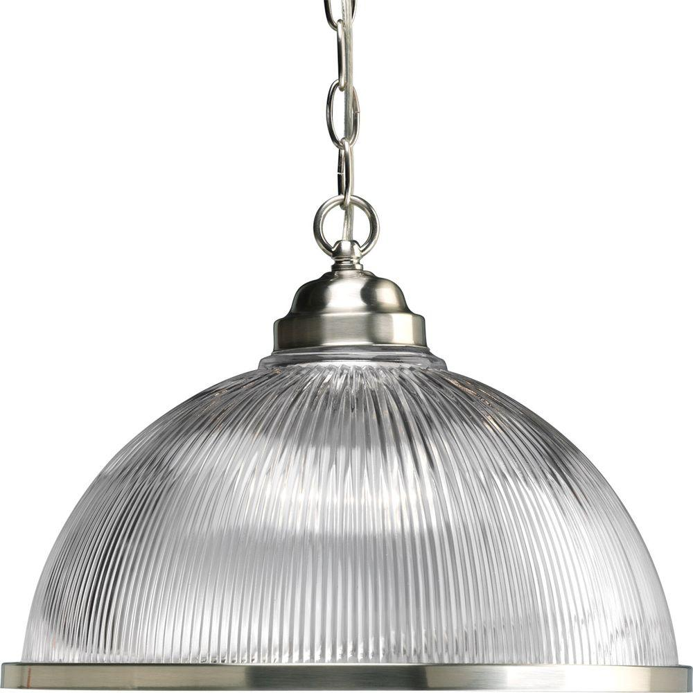 Progress Lighting 1 Light Brushed Nickel Pendant