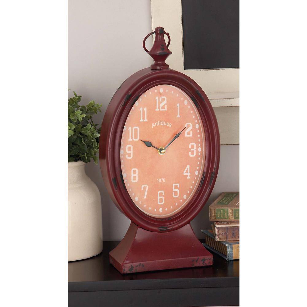 8 in. x 18 in. Oval Desk Clock (4-Pack)
