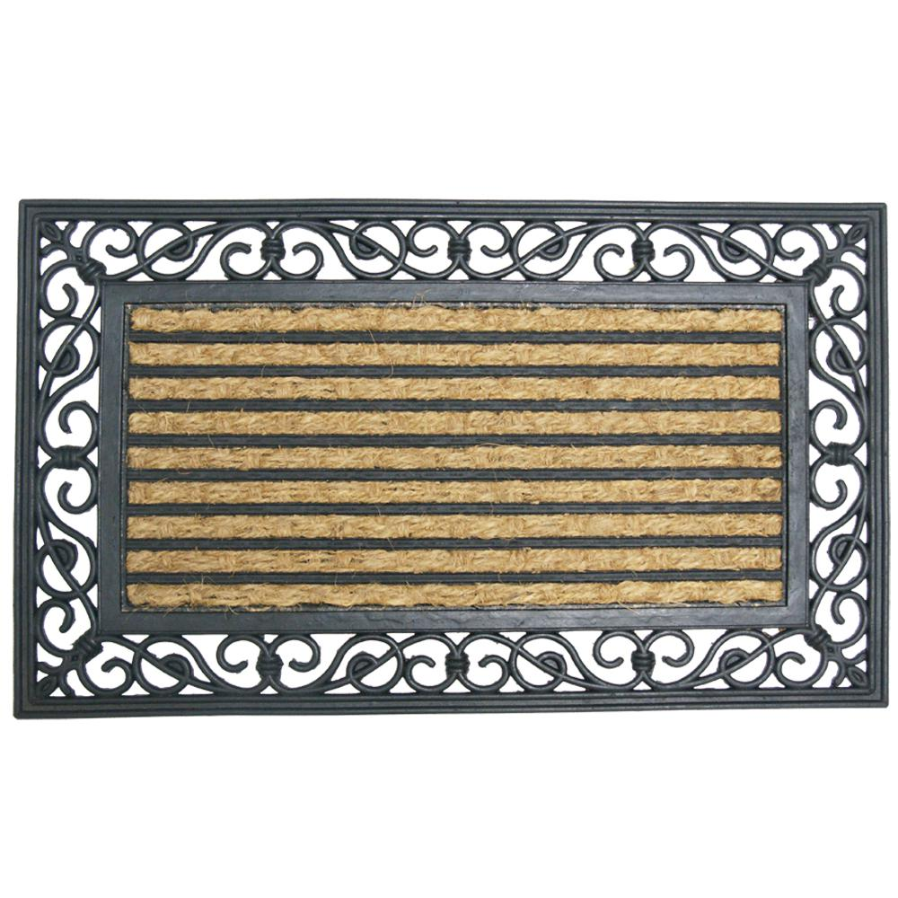 Rubber Cal Casablanca 18 In X 30 In Rubber Cocoa Mat 10 102 515 The Home Depot