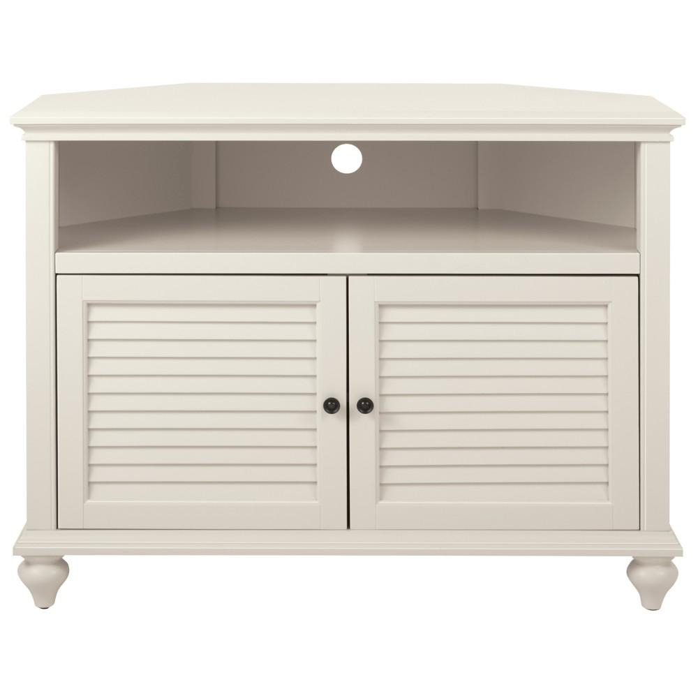 Charmant Home Decorators Collection Hamilton 31 In. H Polar White Highboy Corner TV  Stand