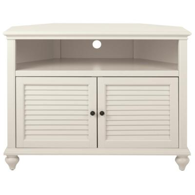 Hamilton 31 in. H Polar White Highboy Corner TV Stand
