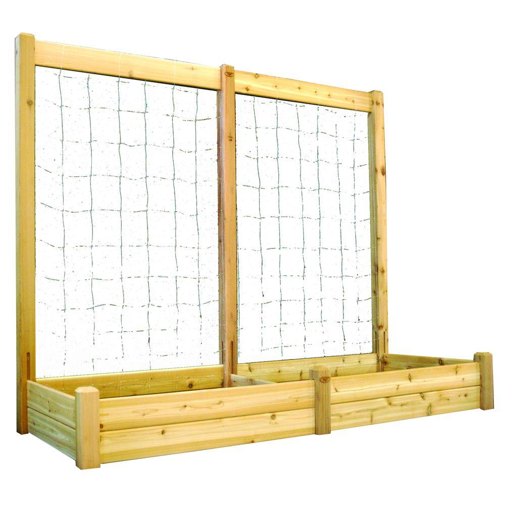 34 in. x 95 in. x 13 in. Raised Garden Bed