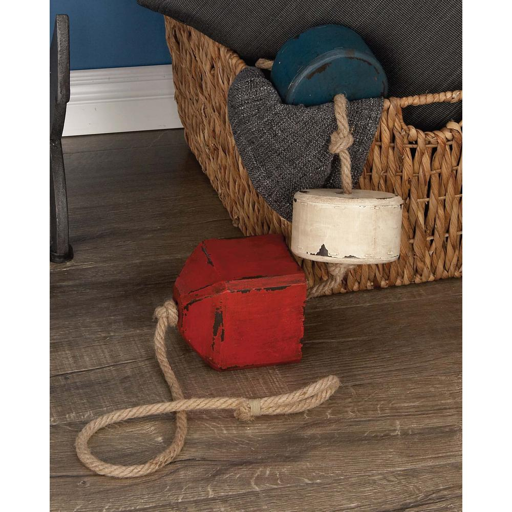 46 in. x 4 in. Nautical Rope Float in Distressed Blue,