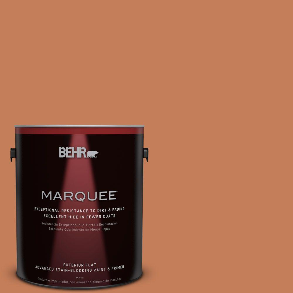 1-gal. #M210-6 Orange Liqueur Flat Exterior Paint