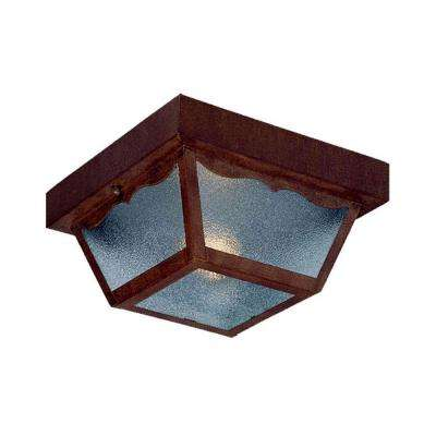 Builder's Choice Collection Ceiling-Mount 1-Light Burled Walnut Outdoor Light Fixture