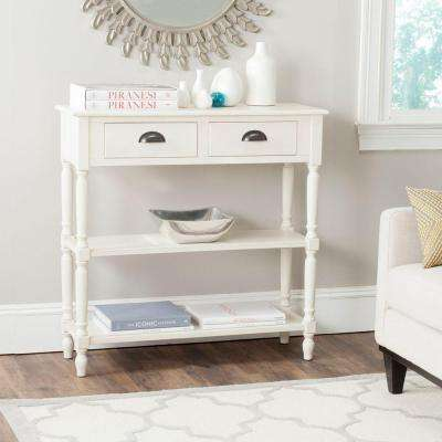 Salem White Storage Console Table