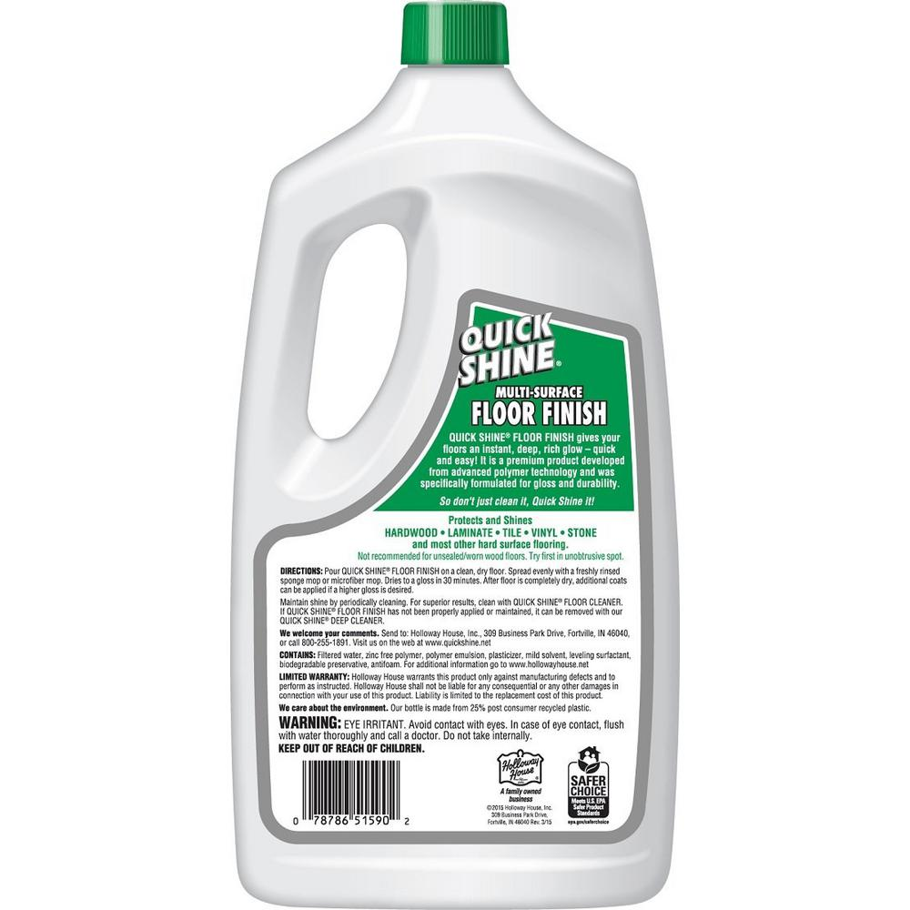 Quick Shine 64 Oz Floor Finish 51590 The Home Depot