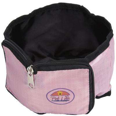 Pink Wallet Travel Pet Bowl